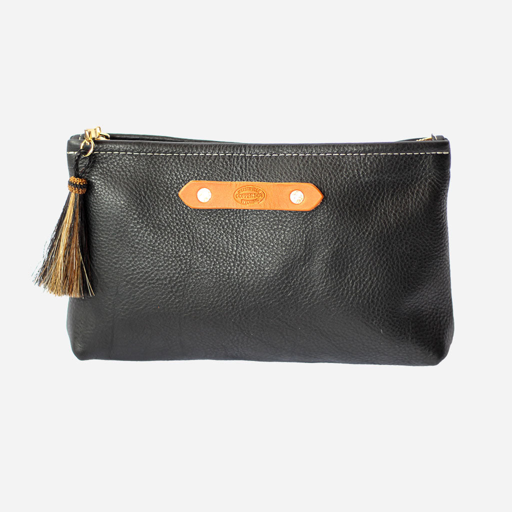 Black Chap Zippy Clutch