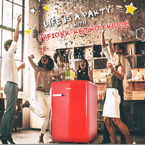 //NEW PRODUCT LAUNCH// Party at $299 with PowerPac 106L Retro Fridge. UP:$499.