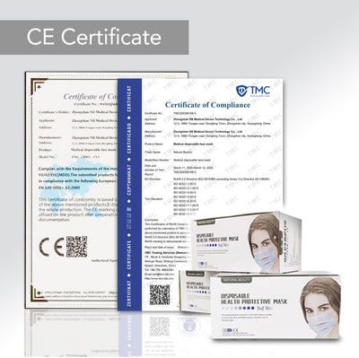 READY STOCKS >> 50 Pcs 3-Ply Health CE Certified Medical Mask (PPM001)