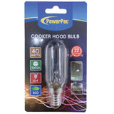 2 Pieces x PowerPac 40W E14 Cooker hood bulb warm white (CHE1425) - PowerPacSG