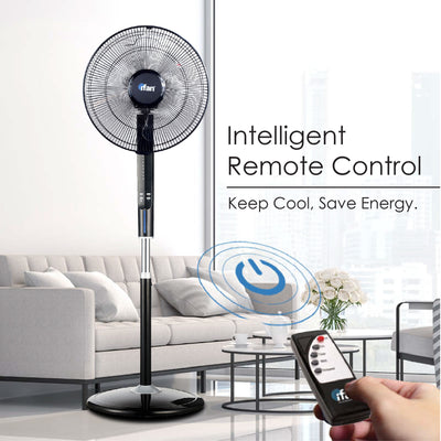 "iFan 16"" Stand Fan with Remote Control (IF606), Fan, iFan, PowerPacSG- PowerPacSG"