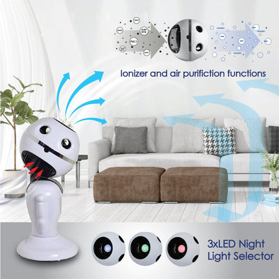 "iFan ""MR ROBOFAN"" Whole Room Eco Air Circulator with Remote Control (IF7373), Fan, iFan, PowerPacSG- PowerPacSG"