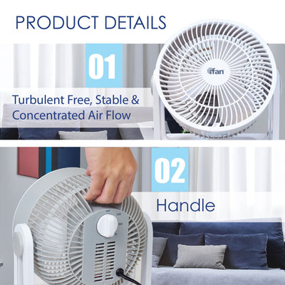 "iFan Combo Special - 8"" Turbo Fan + 10"" Power Stand Fan (IF7408 + IF7619), Fan, iFan, PowerPacSG- PowerPacSG"