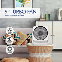 "iFan 9"" ""Power Fan"" & High Velocity Fan, Desk, table fan, Turbo Fan Air Circulator with Vortex Air Flow (IF7410), Fan, iFan, PowerPacSG- PowerPacSG"