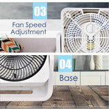"iFan 9"" ""Power Fan"" & High Velocity Fan, Desk, table fan, Turbo Fan Air Circulator with Vortex Air Flow (IF7410) - PowerPacSG"