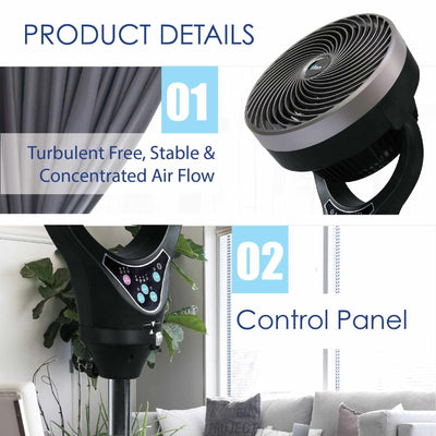 "iFan 10 Inch ""Power Fan"" & High Velocity Fan, Stand Fan Air Circulator with Remote Control (IF7619), Fan, iFan, PowerPacSG- PowerPacSG"