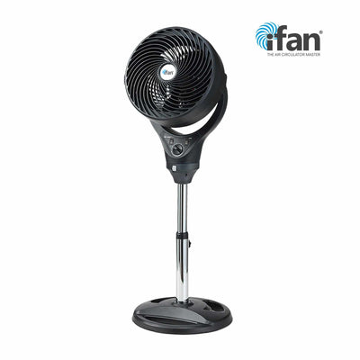 "iFan 10 Inch ""Power Fan"" & High Velocity Fan, Stand Fan Air Circulator (IF7619C)"