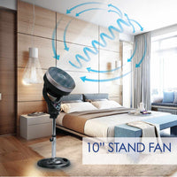 "iFan 10 Inch ""Power Fan"" & High Velocity Fan, Stand Fan Air Circulator (IF7619C) - PowerPacSG"