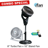 "iFan Combo Special - 8"" Turbo Fan + 10"" Power Stand Fan (IF7408 + IF7619)"