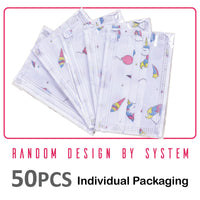 READY STOCKS >> Kids Face Mask 50 Pcs 3-Ply Disposable Non-Woven Cartoon (KM) - PowerPacSG
