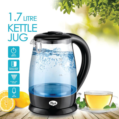 My Choice 1.7L Kettle Glass Jug with Auto Switch (MC7008), Electric Jug, My Choice, PowerPacSG- PowerPacSG