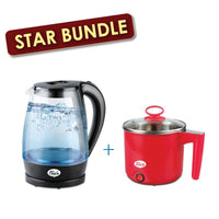 [Bundle Exclusive] My Choice 1.7L Kettle Glass Jug + 1.0L Multi cooker (MC7008+MC165)