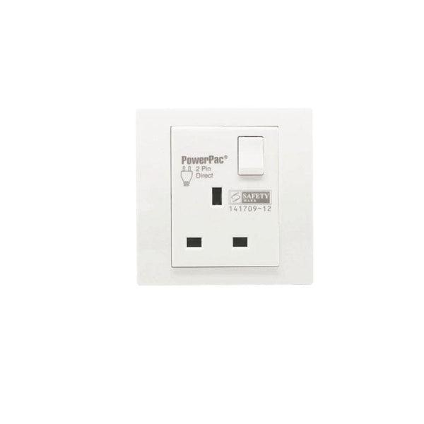 13A 1Gang Switched Socket / Wall Socket with 2 Year Local Warranty (PP1011) - PowerPacSG