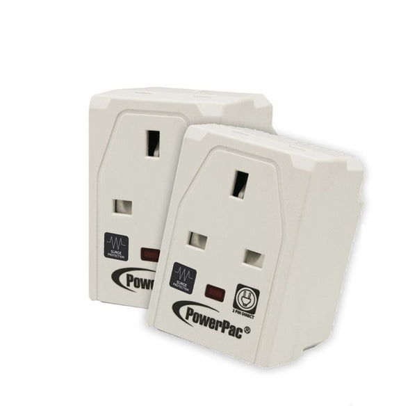 2 Pieces x PowerPac 3-Way Adapter with 2-Pin Direct (PP144SG), 13 Amp, PowerPac, PowerPacSG- PowerPacSG