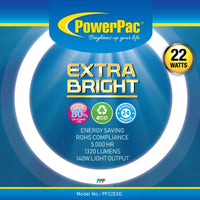 Circular Fluorescent Tube ExtraBright 22W (PP22EXD), Circular Tube, PowerPac, PowerPacSG- PowerPacSG