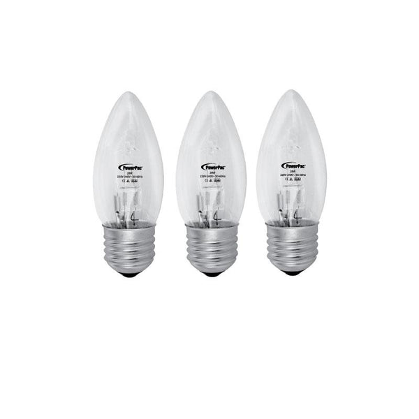 3 Pieces x PowerPac 28W 2700k E27 Halogen Bulbs - Warm White (PP2728), , PowerPac, PowerPacSG- PowerPacSG