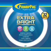 Circular Fluorescent Tube Extra Bright 32W (PP32EXD), Circular Tube, PowerPac, PowerPacSG- PowerPacSG
