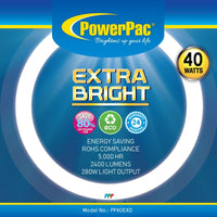 Circular Fluorescent Tube Extra Bright 40W (PP40EXD), Circular Tube, PowerPac, PowerPacSG- PowerPacSG