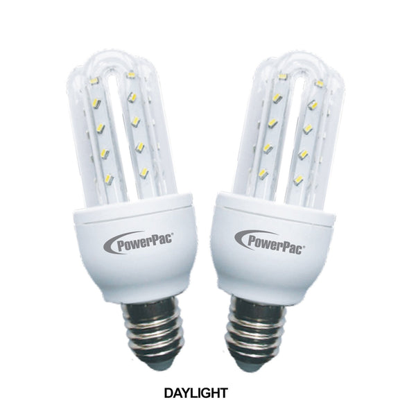 2 Pieces x PowerPac 3.5W E27 Vertex LED Bulb (PP6513/PP6513WW)