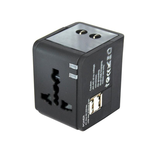 Multi Travel Adapter With 2 USB Charger (PP7979), Extension Socket, PowerPac, PowerPacSG- PowerPacSG