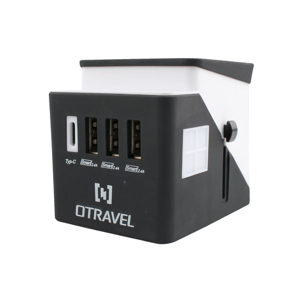 Multi Travel Adapter with 3x USB + 1x Type-c Charger (PP7980), Extension Socket, PowerPac, PowerPacSG- PowerPacSG
