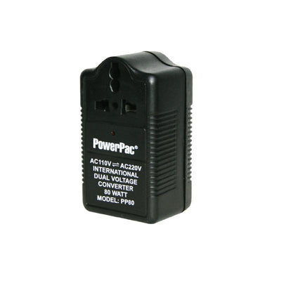 80W Step Up & Down Voltage Converter Transformer 110V / 220V  (PP80), Ac-Dc Adapter, PowerPac, PowerPacSG- PowerPacSG