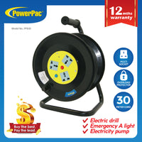 30M Extension cord Storage Reel – Intl (PP830) - PowerPacSG