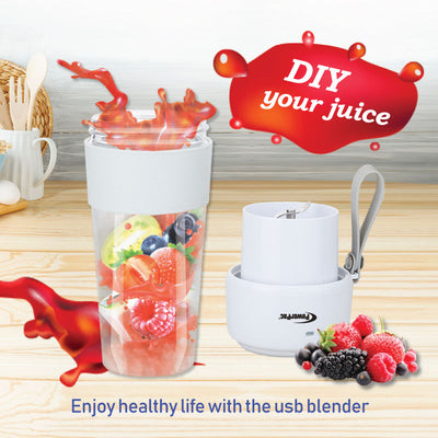Portable USB Juice Blender, Rechargeable Smoothie Blender (PPBL339) - PowerPacSG