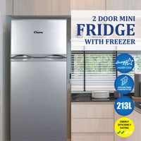 213L 2-Door Mini Fridge with Freezer (PPF213)