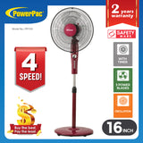 "Stand Fan 16"" with Timer (PPFS50) - PowerPacSG"