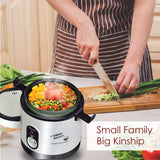 0.6L Portable Rice Cooker with Stainless Steel Steamer Food Tray (PPRC09)
