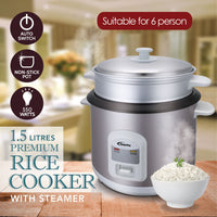 1.5L Rice Cooker with Steamer (PPRC66), Rice Cooker, PowerPac, PowerPacSG- PowerPacSG
