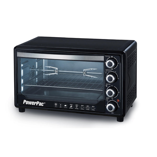 DS -45L ELECTRIC OVEN WITH 2 TRAY / 2 WIRE MASH / ROTISSERIE AND CONVENTION (PPT45) - PowerPacSG