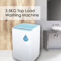 PowerPac Top Load Mini Washing Machine 3.5Kg Washload (PPW883) - PowerPacSG