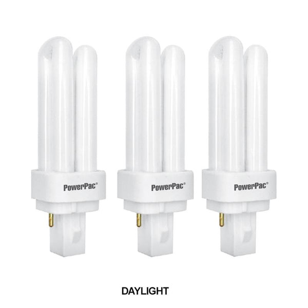 3 Pieces x PowerPac 13W G24d-1 PLC Energy Saving Bulb (SF13/SF13WW) - PowerPacSG