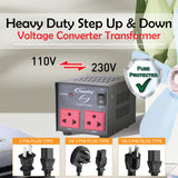 800W Heavy Duty Step Up & Down Voltage Converter Transformer 110V / 220V Voltage Regulator (ST800) - PowerPacSG