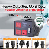 5000W Heavy Duty Step Up & Down Voltage Converter Transformer 110V / 220V Voltage Regulator (ST5000) - PowerPacSG