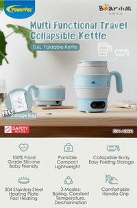 Bear Electric Travel Kettle Folding Portable Kettle (ZDH-A06G1), , PowerPacSG, PowerPacSG- PowerPacSG
