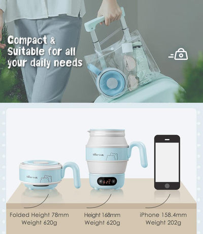 Bear Electric Travel Kettle Folding Portable Kettle (ZDH-A06G1) - PowerPacSG