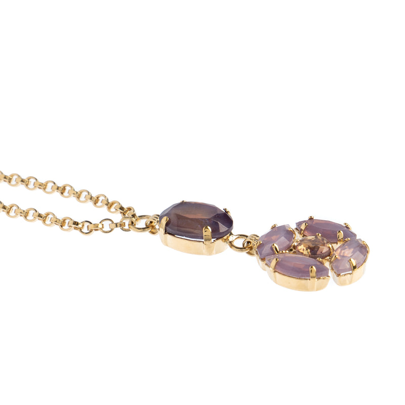 Cloudy Lavender Gem Necklace