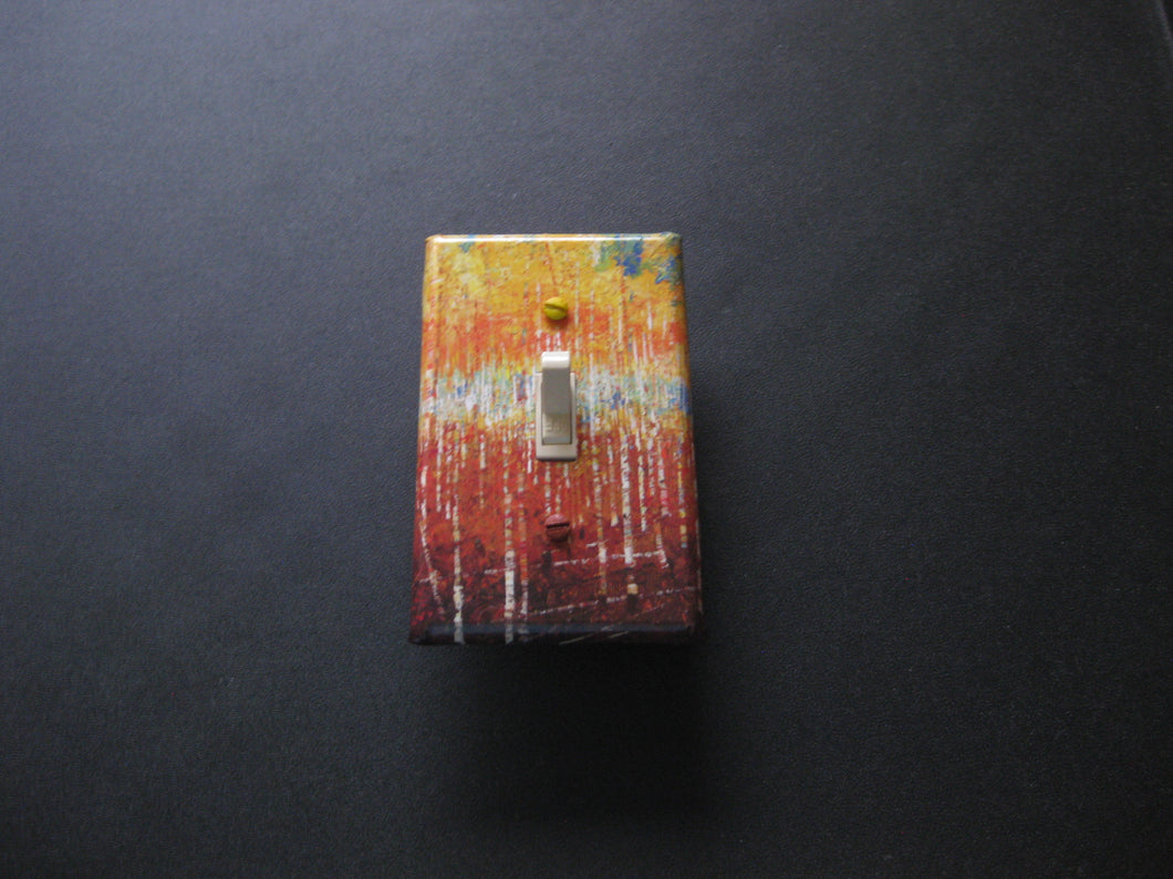 Decorative Light Switch Cover (Fall Trees)