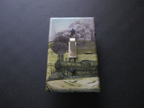 Decorative Light Switch Cover (Train)