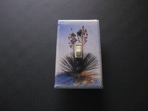 Decorative Light Switch Cover (White Sands Yucca)