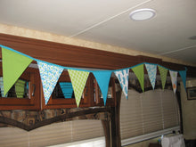 Triangle Pennant Flag Banner (Turquoise Cactus)
