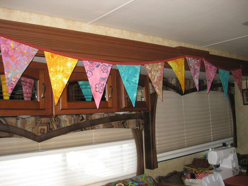 Triangle Pennant Flag Banner (Tie Dyed)