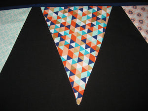 Triangle Pennant Flag Banner (Navy Blue)