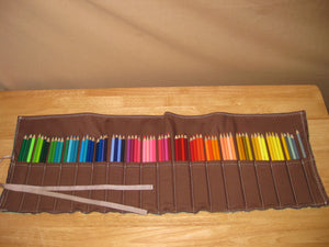 Colored Pencil Roll Up Holder