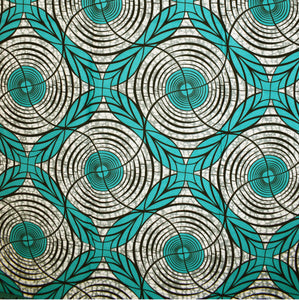 A RIVER RUNS THROUGH IT African Print Wax Block Fabric Sold by the yard 100% cotton Ankara by Dovetailed