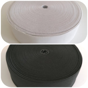 50 mm 2 inches wide elastic flat elastic stretch woven elastic white black waistband headband sewing supply Scrubs Dovetailed