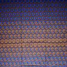 'CHANGING (on blue)' African Wax Block Print Fabric Sold by the yard 100% cotton by Dovetailed